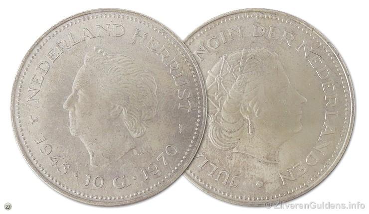 Herdenkingstientje - 10 gulden 1970