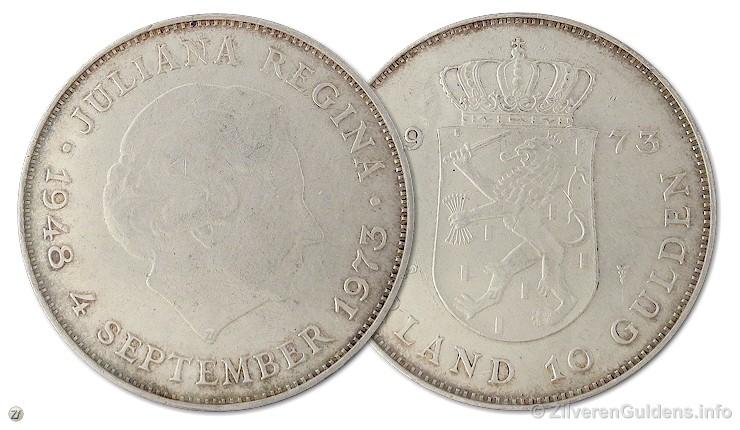 Herdenkingstientje - 10 gulden 1973