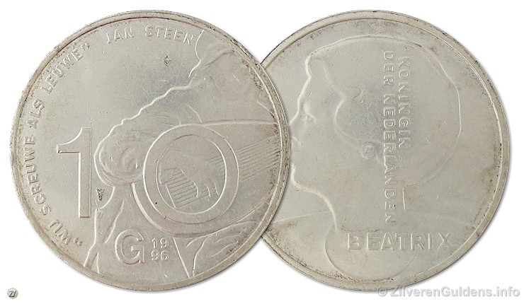 Herdenkingstientje - 10 gulden 1996