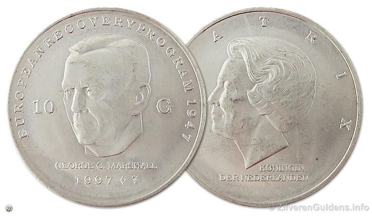 Herdenkingstientje - 10 gulden 1997