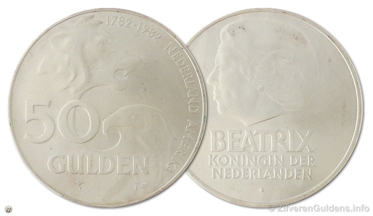 Herdenkingsmunt - 50 gulden 1982