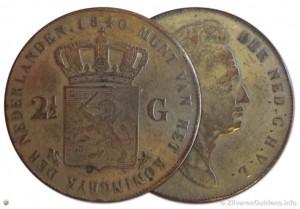Valse rijksdaalder 1840 - koperkleur