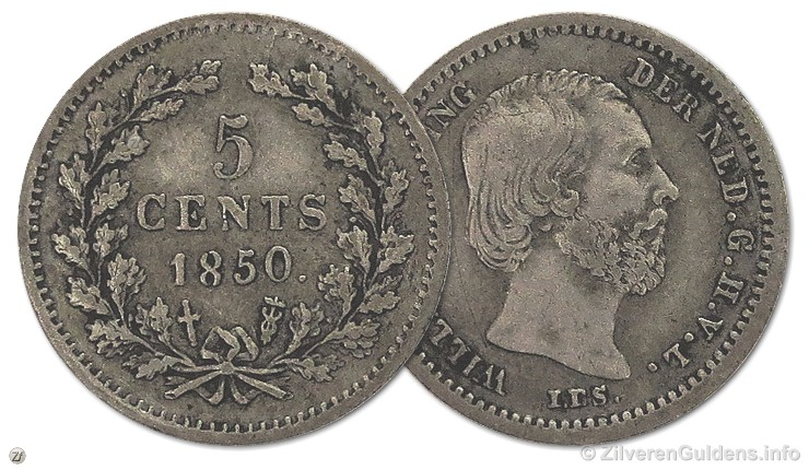 Stuiver - Stuiver - 5 cents 1850